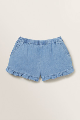 Seed Heritage Chambray Frill Short