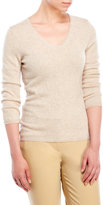 in cashmere V-Neck Knit Sweater