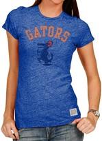 Original Retro Brand Unbranded Women's Heathered Royal Florida Gators Tri-Blend Crew Neck T-Shirt