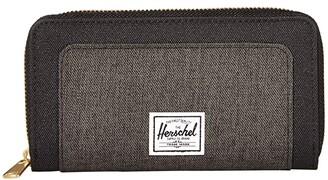 Herschel Thomas RFID Wallet (Black/Black Crosshatch) Wallet Handbags