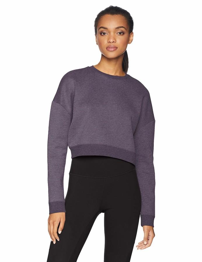 Core 10 Amazon Brand Women's Plus Size Motion Tech Fleece Cropped Sweatshirt
