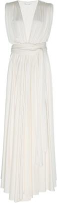 Oscar de la Renta Gathered Jersey Maxi Dress