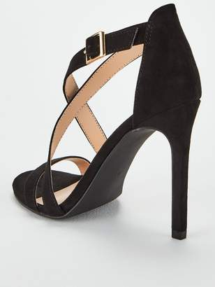Very Priscilla Cross Strap Heeled Sandal - Black