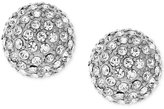 Vince Camuto Silver-Tone Pavé Ball and Metallic Pyramid Reversible Front and Back Earrings