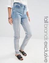 Glamorous Tall Boyfriend Jeans With Silver Coating