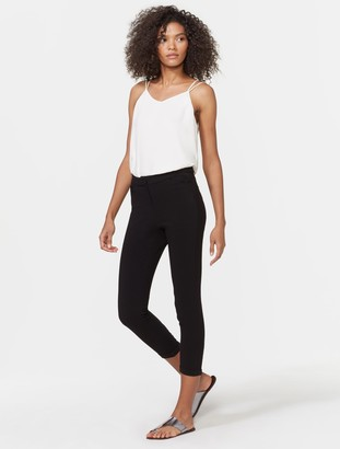 Halston Tapered Ankle Zip Pants