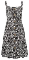 Dorothy Perkins Womens Black Animal Printed Strappy Jersey Dress, Black