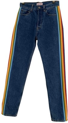 Palm Angels Blue Denim - Jeans Trousers