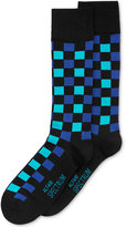 Alfani Spectrum Men's Socks, Block Plaid Crew Single Pack