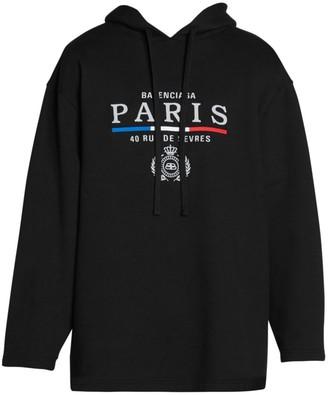 Balenciaga Oversized Paris Logo Hoodie