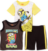 Children's Apparel Network Despicable Me Yellow 'Minions' Tee & Shorts Set - Toddler & Boys