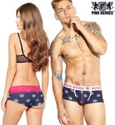 HANYI Couples New Young Mens Boxer&Womens Lace Boyshort Underpants Knickers Sexy Briefs Shorts Cotton Underwear (XL, )