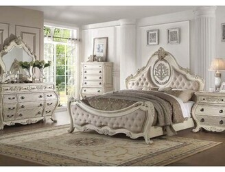 Astoria Grand Welling 11 Drawer Double Dresser with Mirror Color: Antique White