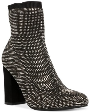 Wild Pair Baybe Bling Sock Booties, Created for Macy's Women's Shoes