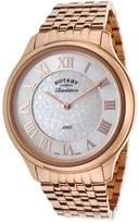 Rotary Revelation LB02967-06-10 42mm Rose Gold Steel Bracelet & Case Mineral Women's Watch