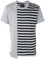 Yohji Yamamoto striped print T-shirt