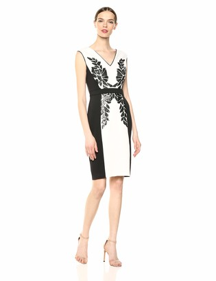 Tadashi Shoji Women's SLVLESS Neoprene Dress W/Sequin DTL