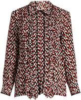 Marni Ruffled-front silk blouse