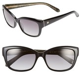 Kate Spade Women's 'Johanna' 53Mm Retro Sunglasses - Black