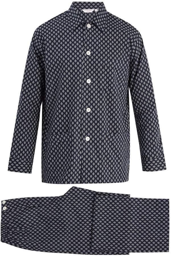 Derek Rose Nelson 64 cotton-batiste pyjama set