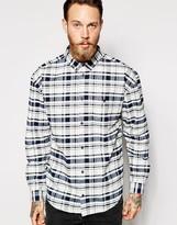 Dr Denim Shirt Tower Oversized Buttondown Check - White