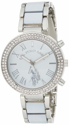 U.S. Polo Assn. Women's usc40086 Analog Display Analog Quartz White Watch