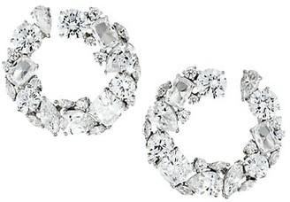 Adriana Orsini Silvertone & Cubic Zirconia Wraparound Hoop Earrings