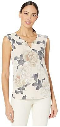 Calvin Klein Sleeveless Top with Chain Hardware (Blush Combo) Women's Sleeveless