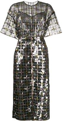 Marco De Vincenzo sheer sequin-embellished dress
