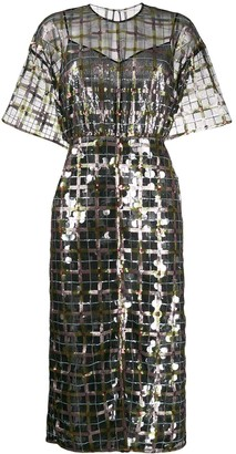 Marco De Vincenzo Sheer Sequin-Embellished Dress