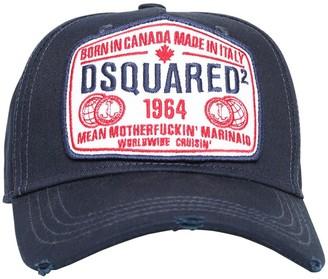DSQUARED2 Logo Patch Cotton Canvas Baseball Hat