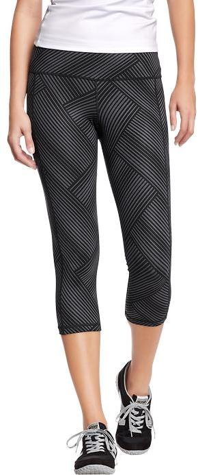 """Old Navy Women's Active by Printed-Compression Capris (20"""")"""