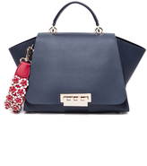 Zac Posen Eartha Soft Top Handle Bag with Floral Strap
