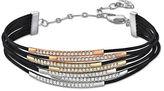 Swarovski Leather Crystal Cuff Bracelet