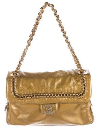 Chanel Patent Leather Luxe Ligne Flap Bag