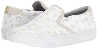 Nurse Mates Limited Edition 2018 Childhood Cancer Campaign Slip-On (White/Hearts) Women's Shoes