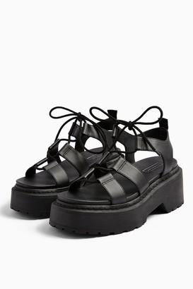 Topshop PHOEBE Black Chunky Sandals