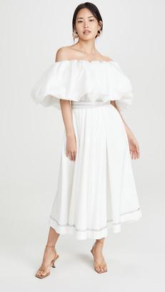 Aje Prima Puff Midi Dress