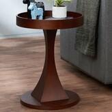 Forsman Contemporary Round Wooden End Table Latitude Run