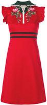 Gucci floral zip placket dress
