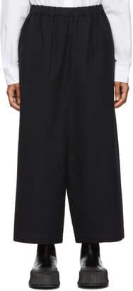 Comme des Garcons Navy Cotton Wide-Leg Trousers