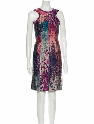 J. Mendel Silk Knee-Length Dress Purple