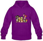 Crystal Men's The Flintstones Pebbles Bamm-Bamm Long Sleeve Hoodie Sweatshirt US Size L