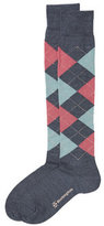 Burlington Knee High Argyle Print Socks with Virgin Wool