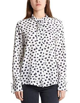 Marc Cain Women's Blouse, (White 110), 8 (Size: 1)