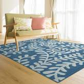 iCustomRug Laney Soft And Comfortable And Bright Colored 9ft0in x 12ft0in Area Rug In Blue