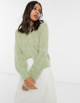 And other stories & button through cardigan in sage green