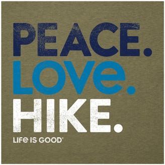 Life is Good Women's Peace Love Hike Cool Tee