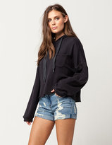 Almost Famous Destructed Cuff Womens Denim Shorts