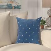 "Pembrook Dorothy Dot Geometric Throw Pillow Bay Isle Home Size: 20"" H x 20"" W, Color: Orange"